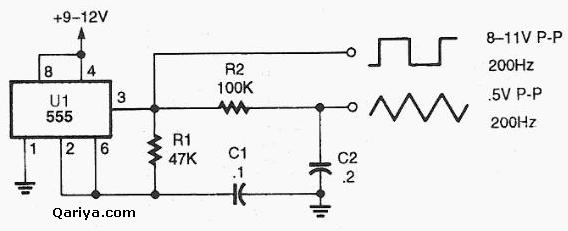 square triangle wave generator