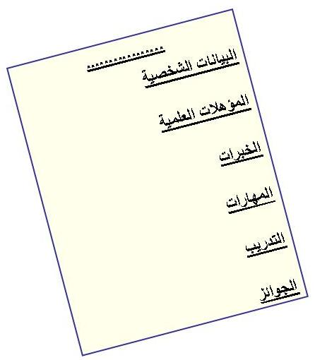 كيف تكتب سيرة ذاتية C.V Qariya_cv-writing-1